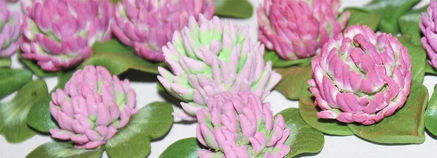 цветки из полимерной глины