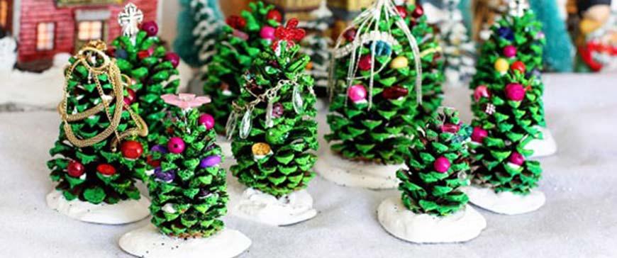 елки из шишек на новый год