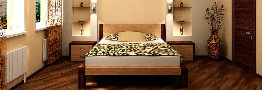 интересный вариант спальни 12 кв. м.