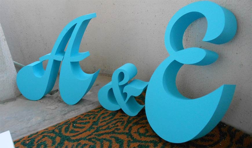 как сделать буквы из пенопласта
