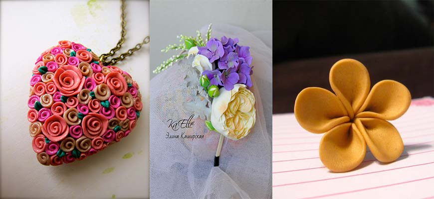 how to make flowers from polymer clay