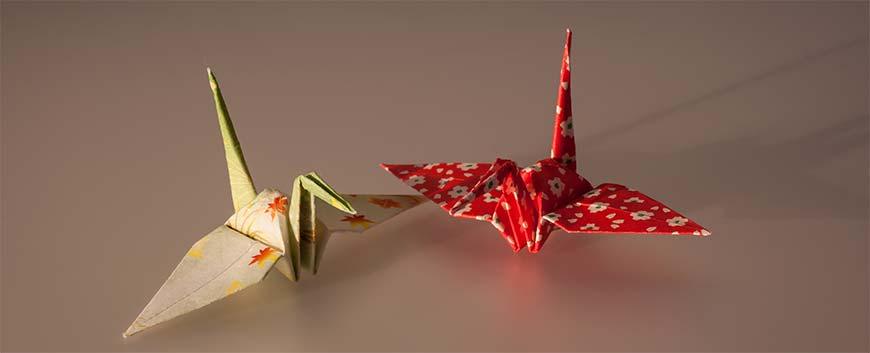 как сделать журавля из оригами