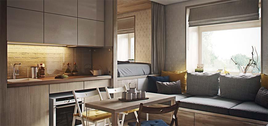 кухня в квартире 40 кв.м