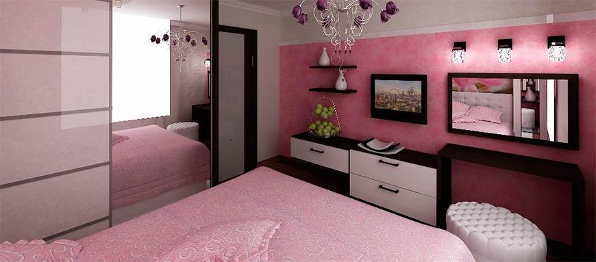 мебель в спальни - расположение