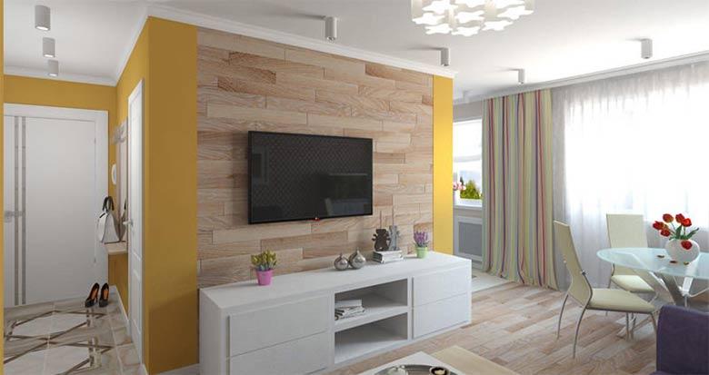 минимализм в трехкомнатной квартире