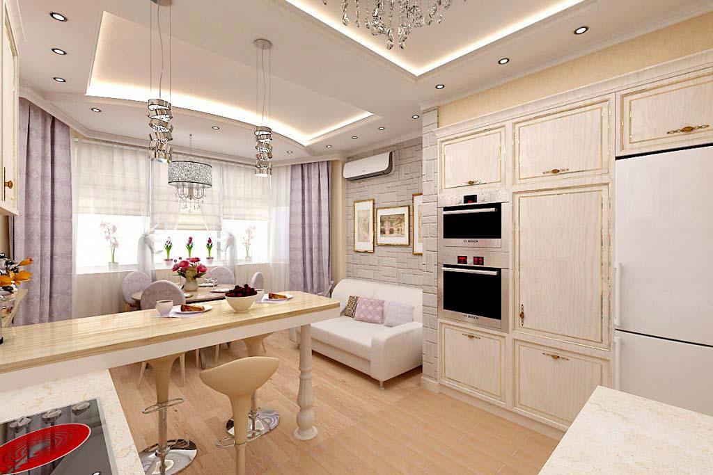 Дизайн кухни 10 кв м п44т