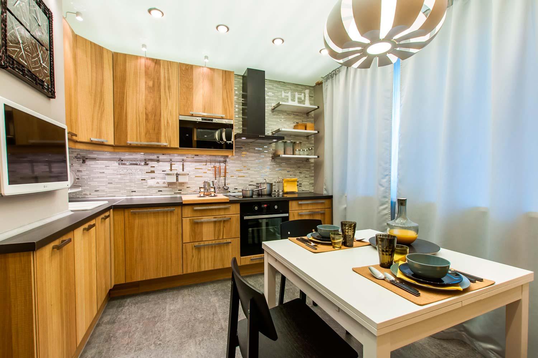 Ремонт на кухне 9 метров своими руками фото