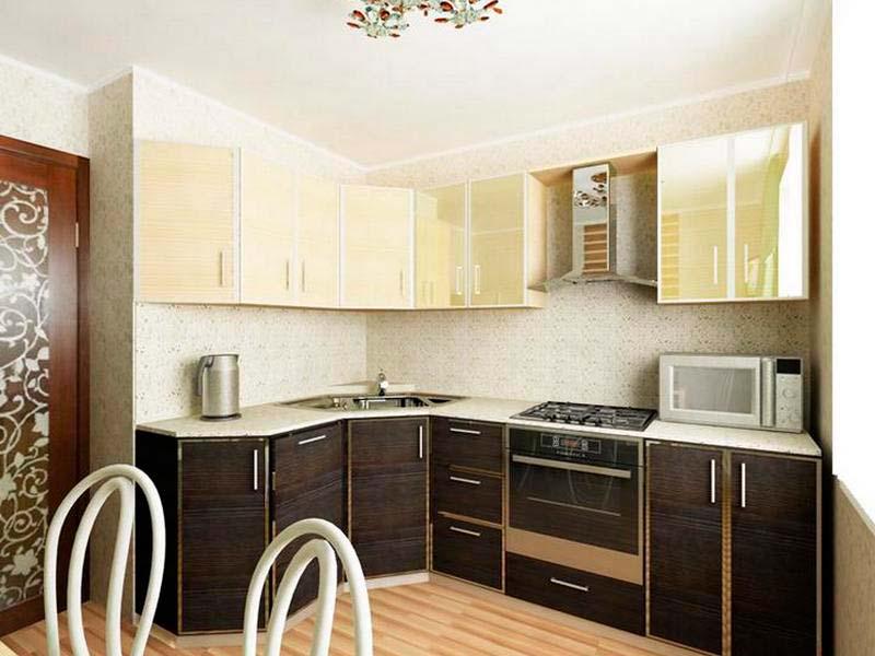 Дизайн квадратной кухни 9 м