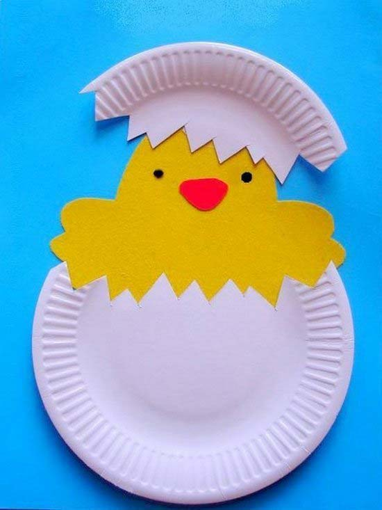 Поделки для детей 5-6 лет из бумажных тарелок 52
