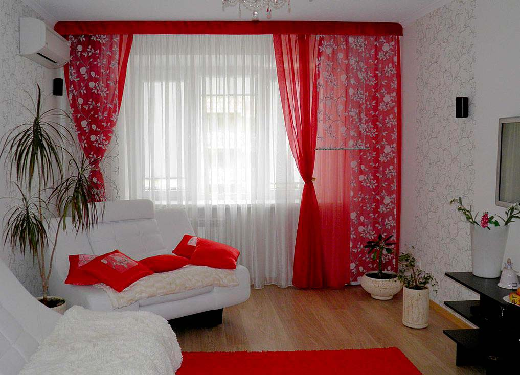 Идея штор для гостиной фото