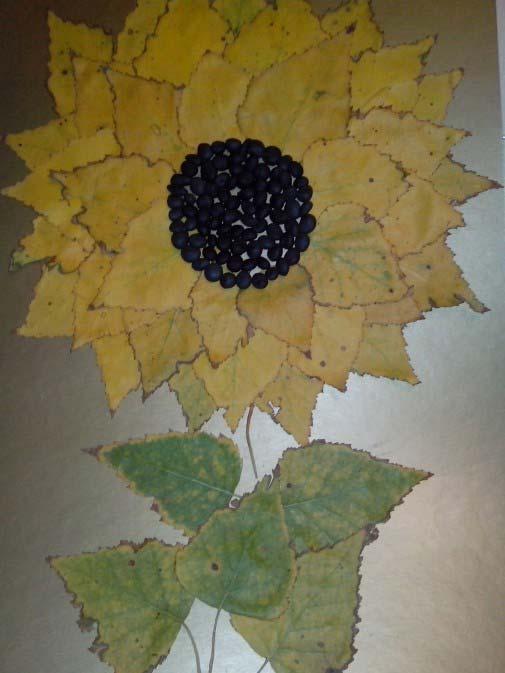 Из листьев малины поделки