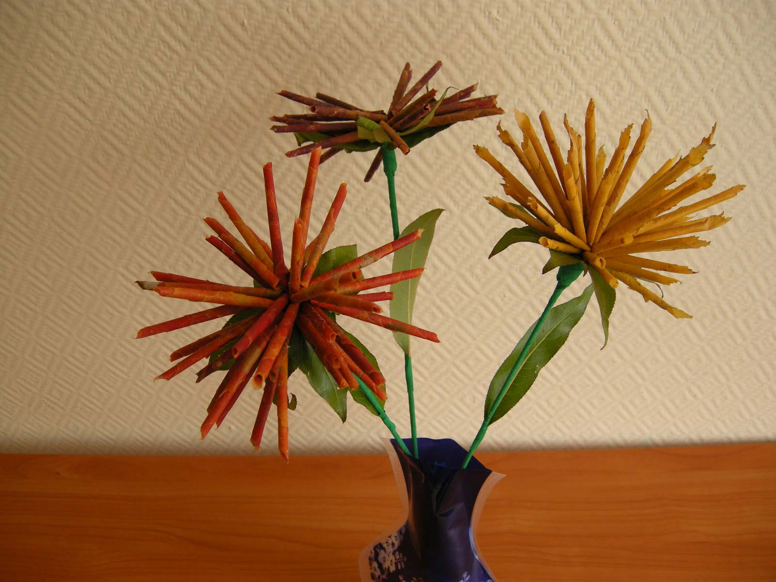 Цветы из дубовых листьев своими руками 72