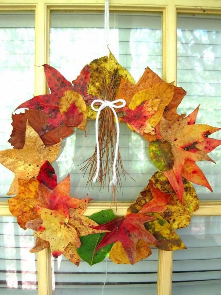 Поделки из листьев оригинальные 30