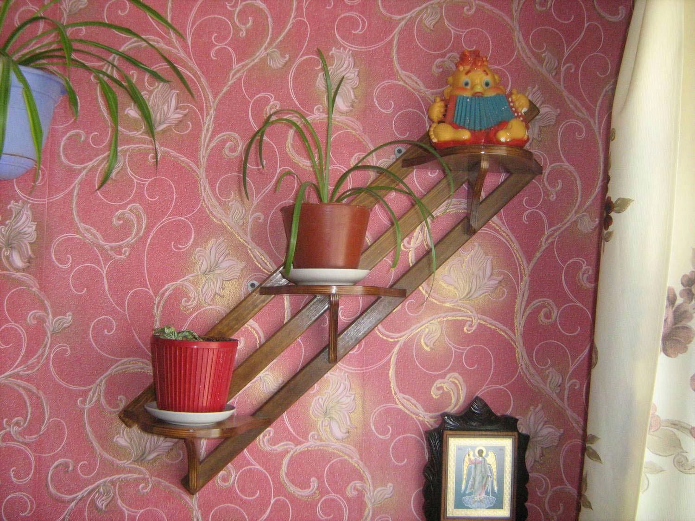 Полочка на стену своими руками для цветов