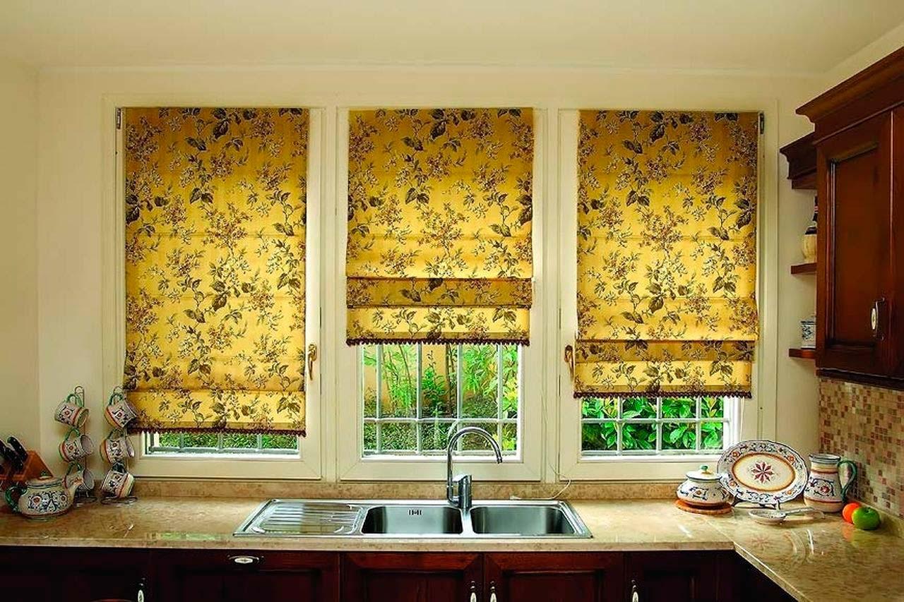 Римские шторы для кухни своими руками с фото 9