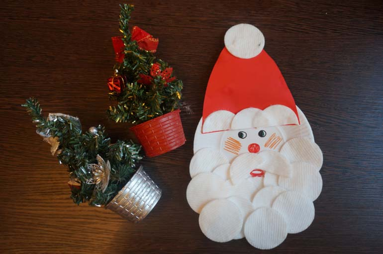 Дед мороз своими руками из дисков
