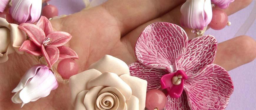 орхидея-из-глины