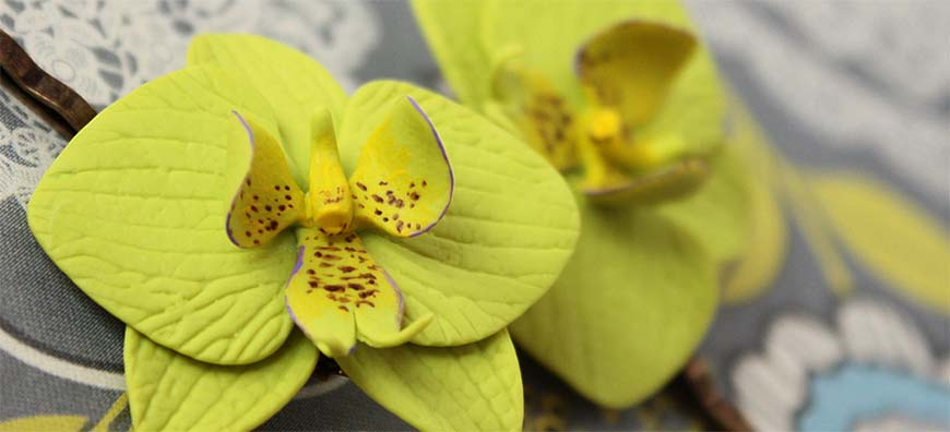polymer clay orchid
