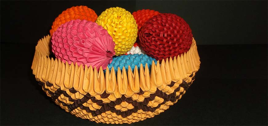 пасхальные яйца оригами