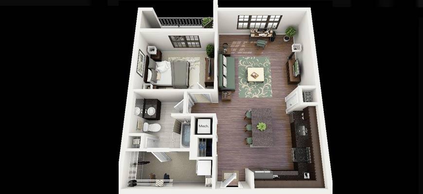 планировка квартиры на две комнаты