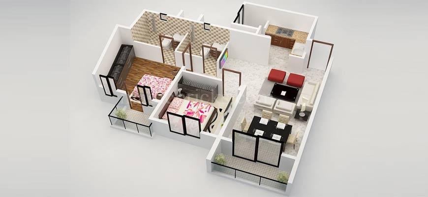 планировка квартиры на три комнаты