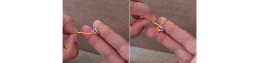 плетение на пальцах - продеваем петлю