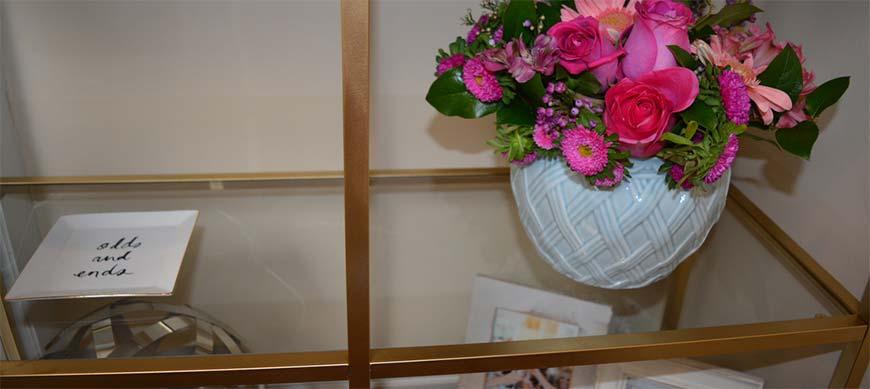 полки для цветов со скла