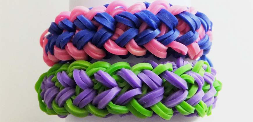 пример плетения из резинок