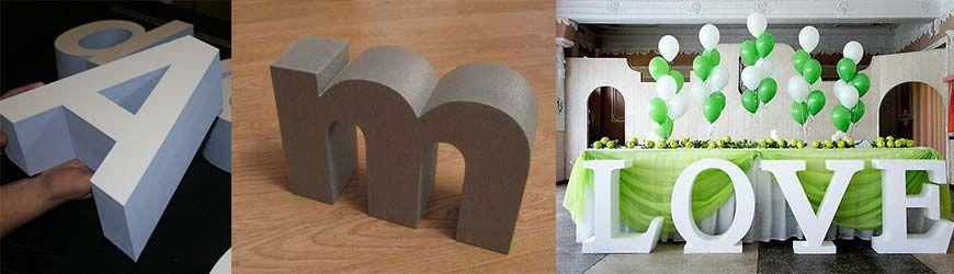 Буквы из пенопласта: изготовление, способы украшения, 69 фото идей