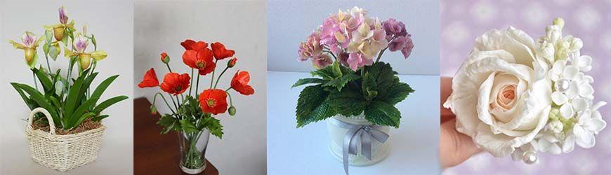 Цветы из полимерной глины своими руками: мастер-классы, фото примеры