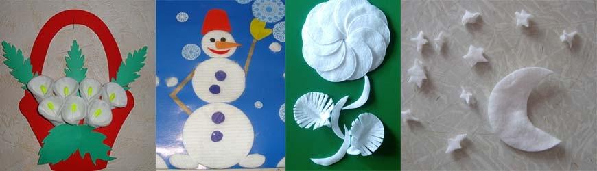 Поделки из ватных дисков для взрослых и детей, новые фото идеи