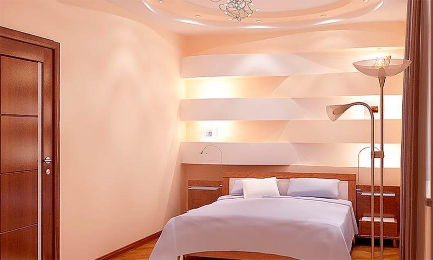 вариант отделки спальни
