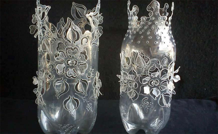 вазы из плистиковых бутылок