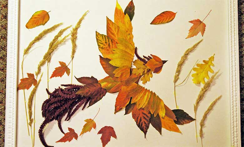 жар птица из листьев